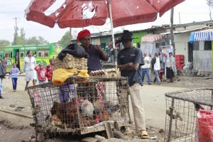 Selling of Chicken.