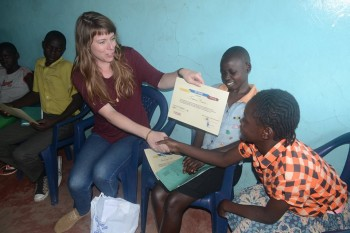 A Mathare Foundation child wins an award